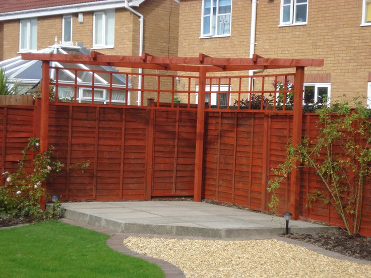Corner pergola maybe a bit further from fence for How to build a corner pergola