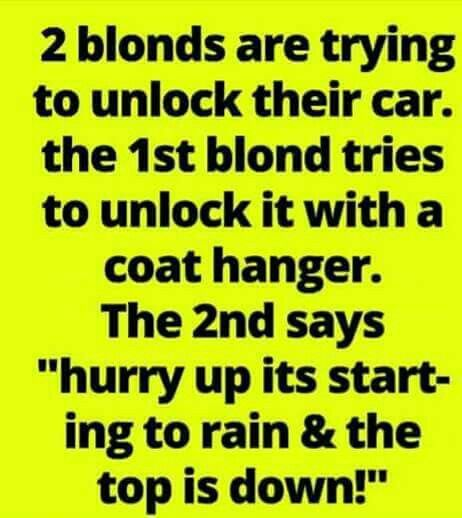 Always love a good blonde joke!!