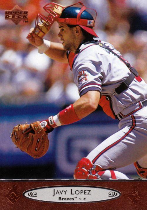 Random Baseball Card #1710: Javy Lopez, catcher, Atlanta Braves, 1996, Upper Deck.