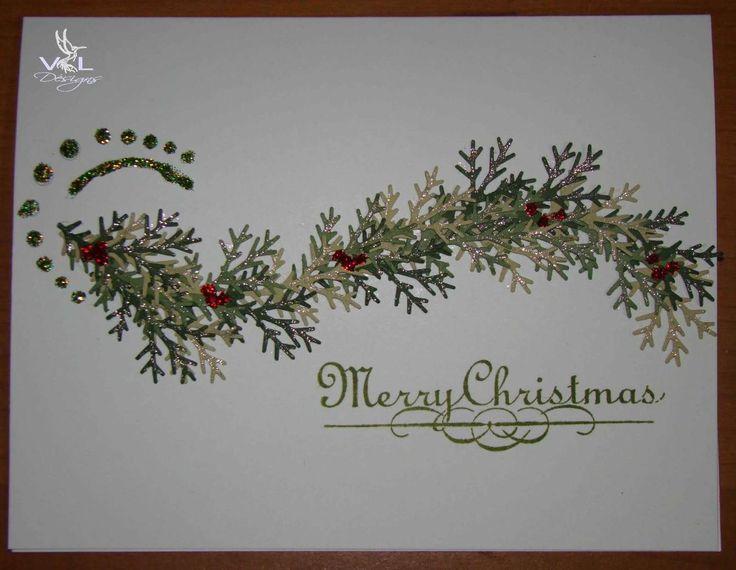 card using Martha Stewart branch punch