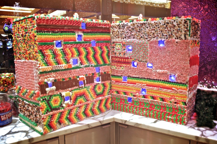 Our talented pastry chefs modeled an exquisite candy house to replicate our brand new tower going up in 2014! — at Harrah's Rincon Casino & Resort. #amazing #cakes #incredibleedibles