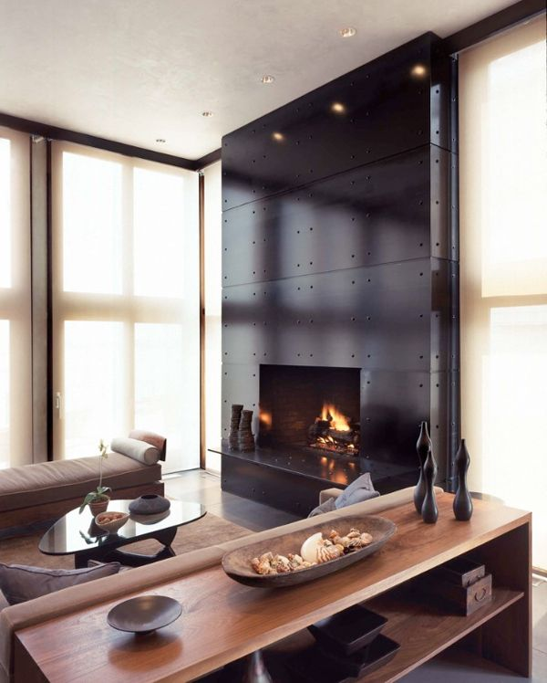 Modern Living Room With Fireplace 860 best fireplaces images on pinterest | fireplace surrounds