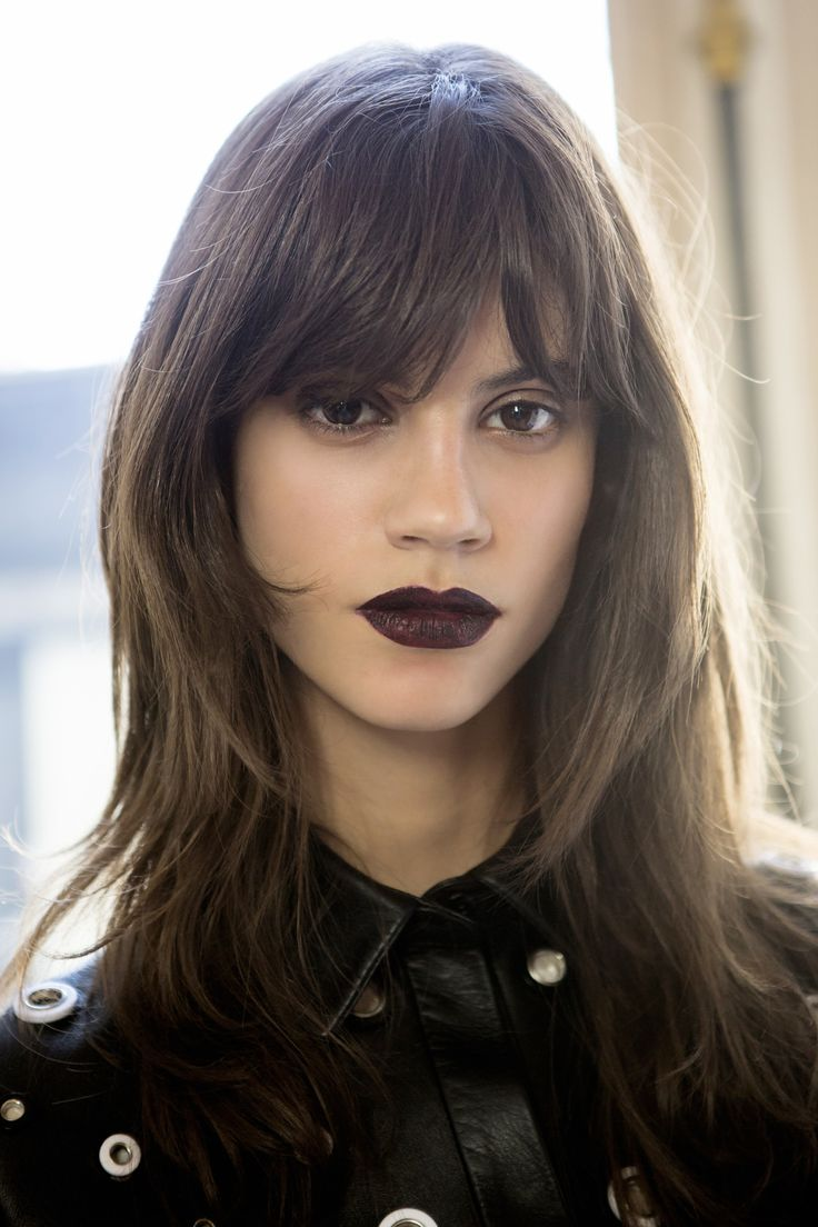 Makijaż, trendy jesień-zima 2015/2016: wampirze usta, Ungaro, fot. Imaxtree