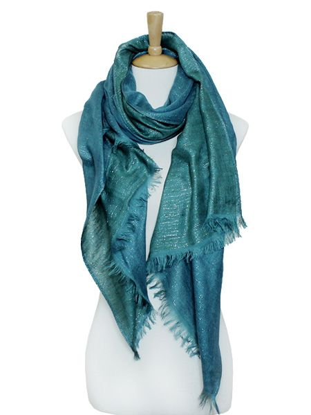 Two-Tone Taylor Scarf in Teal