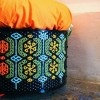 Knit Knacks: Junk Munkez Turns Scrapped Washing Machine Drums Into Colorful Embroidered Stools knit knack recycled seat by junk munkez – Inhabitat - Sustainable Design Innovation, Eco Architecture, Green Building