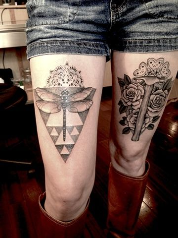 Amazing Leg Tattoos for Women by Erik Jacobsen