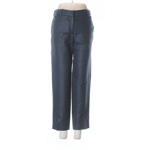 J. Crew Factory Store Dress Pants ($24) ❤ liked on Polyvore featuring pants, black, cotton dress pants, slacks pants, j crew trousers, suit pants and cotton pants