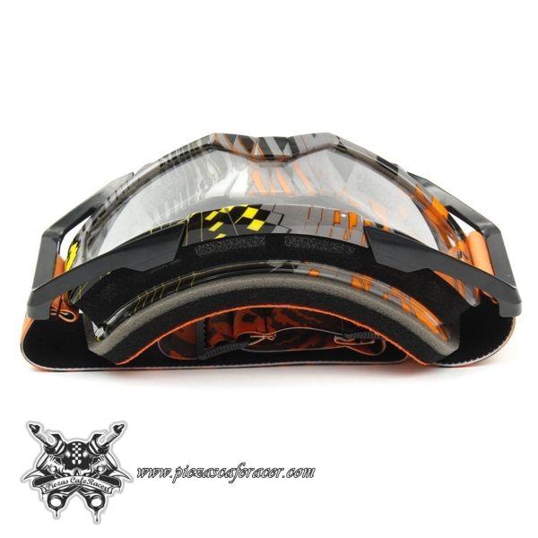 """Gafas Piloto Motocross Off-Road ATV Modelo """"Modern-Original"""" Color Naranja-Gris - 16,08€ - ENVÍO GRATUITO EN TODOS LOS PEDIDOS"""