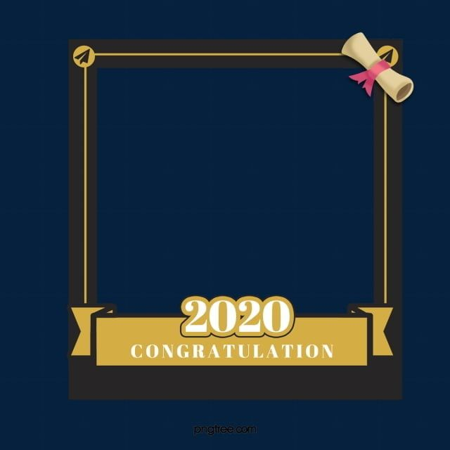 Bachelor Certificate Graduation Border Bachelor Certificate Graduation Png Transparent Clipart Image And Psd File For Free Download Graduation Frame Creative Photo Frames Certificate Background