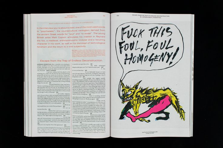 Mousse Magazine #53 ~ #mattcopson #nicetomeetyou #normanrosenthal #art #contemporaryart #magazine #moussemagazine