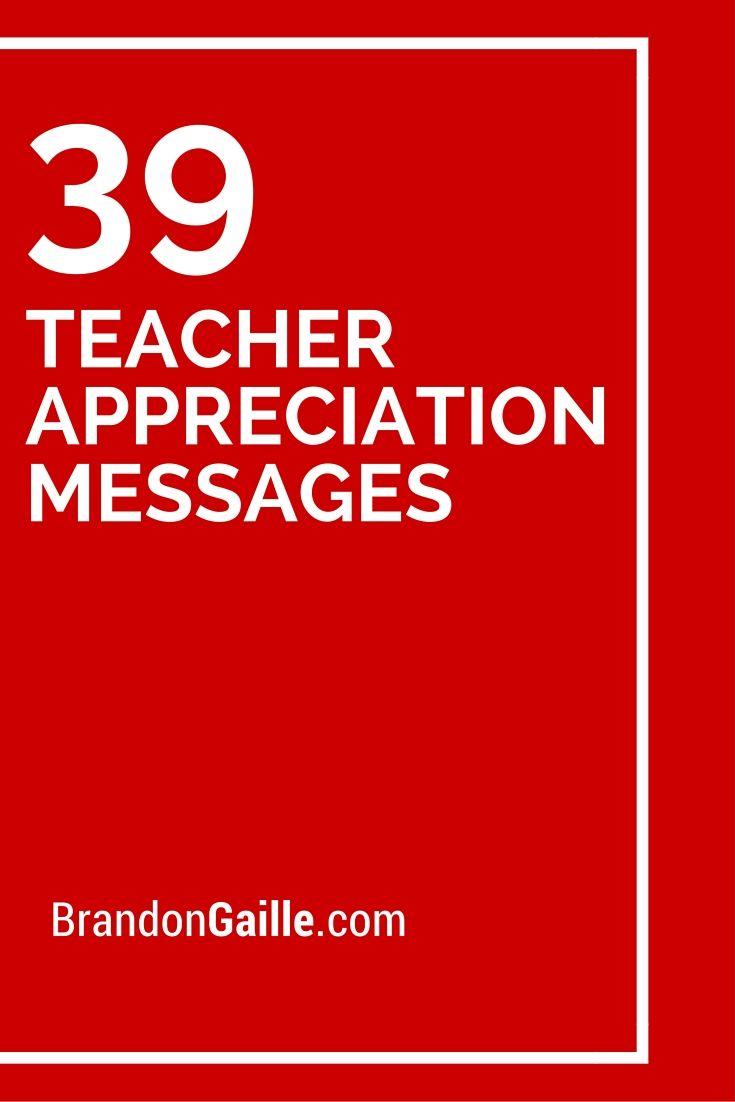 39 Teacher Appreciation Messages