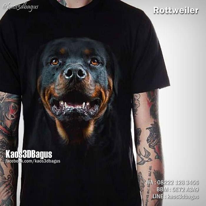 Kaos ROTTWEILER, Kaos3D, Kaos DOGGY, Kaos ANJING ROTTWEILER, Kaos DOG LOVER, Kaos ANIMAL LOVER, https://instagram.com/kaos3dbagus, WA : 08222 128 3456, LINE : Kaos3DBagus