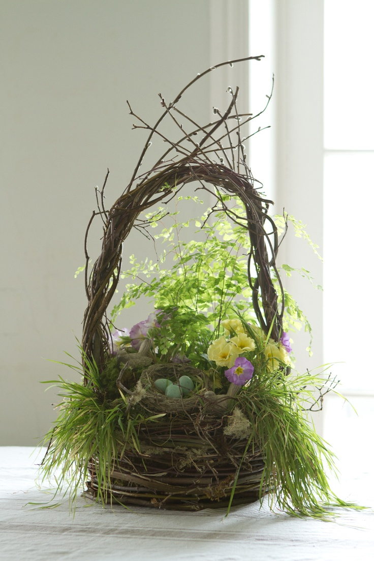 91 best natural easter images on pinterest easter baskets chicken create a natural easter basket inspiration any time inspiration pretty negle Images