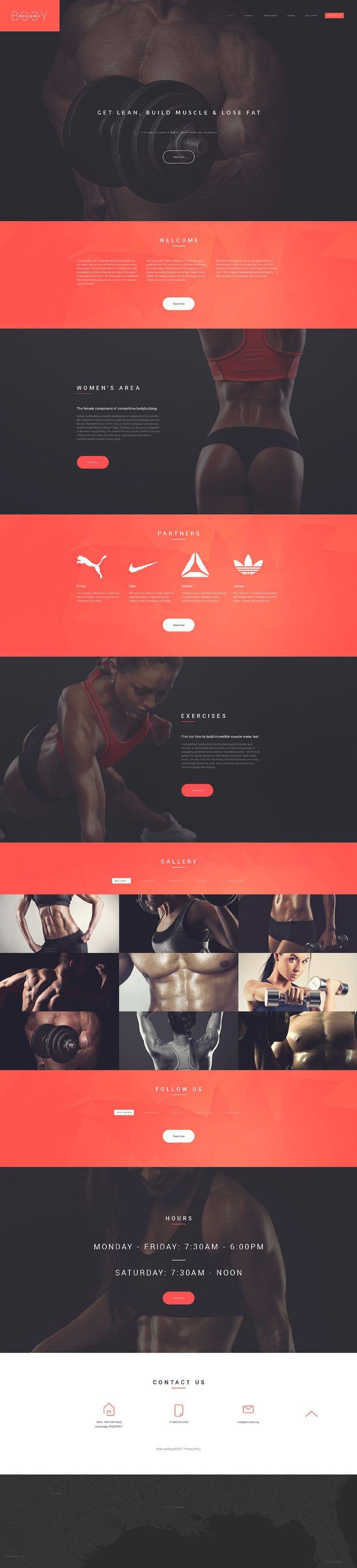 Bodybuilders' Club Website Template  http://www.templatemonster.com/website-templates/55451.html?utm_source=pinterest&utm_medium=timeline&utm_campaign=55451