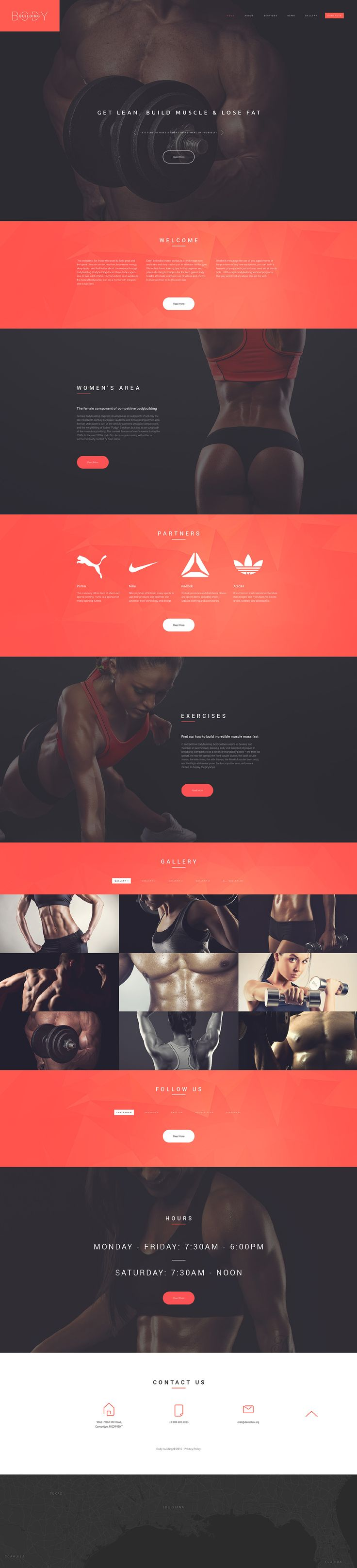 Bodybuilders' Club Website Template  http://www.templatemonster.com/website-templates/55451.html?utm_source=pinterest&utm_medium=timeline&utm_campaign=55451