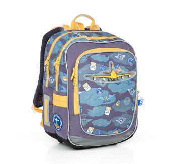 Odlotowy plecak chłopięcy CHI 789 D - Blue z motywem samolotów