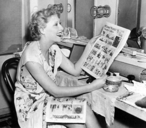 vivian vance | Vivian Vance reads the Sunday funniesC. 1940s