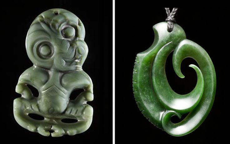 Maori necklaces hei tiki fish hook jade jewelry