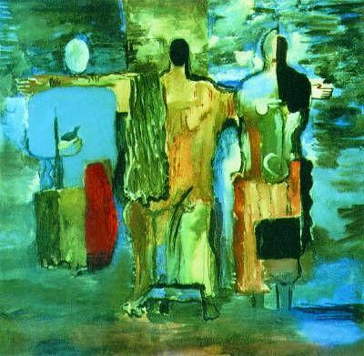 http://w.histrf.ru/uploads/media/article/0001/09/thumb_8473_article_big.jpeg В.М. Ермолаева. «Три фигуры» («Голгофа»). Гуашь, акварель. 1928. Русский музей (С.-Петербург).