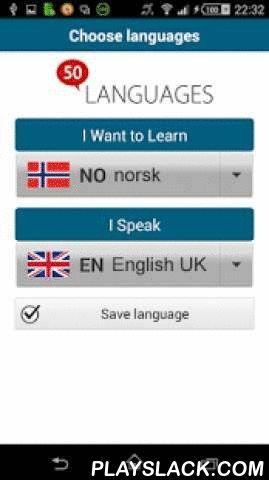 """Learn Norwegian - 50 Languages  Android App - playslack.com ,  """"Noors 50 talen"""" (www.50talen.com) bevat 100 lessen die u voorzien van een basiswoordenschat. Deze gratische toepassing bevat 30 lessen. Zonder enige voorafgaande kennis leert u, met korte zinnen en in realistische situaties, heel snel een vreemde taal vloeiend spreken. De 50talen-methode is een geslaagde combinatie van audio en tekst, waarmee u efficiënt een taal kunt leren.50talen komt overeen met de niveaus A1 en A2 van het…"""