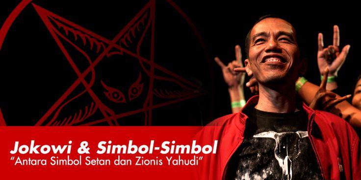 Antara Jokowi Simbol Setan dan Zionis Yahudi