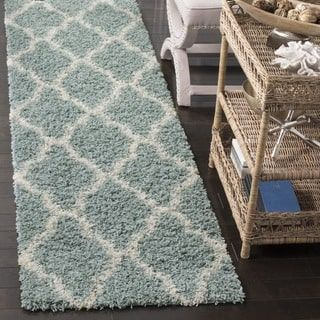 Shop for Safavieh Dallas Trellis Seafoam/ Ivory Shag Runner (2' 3 x 8'). Get free shipping at Overstock.com - Your Online Home Decor Outlet Store! Get 5% in rewards with Club O! - 20206515