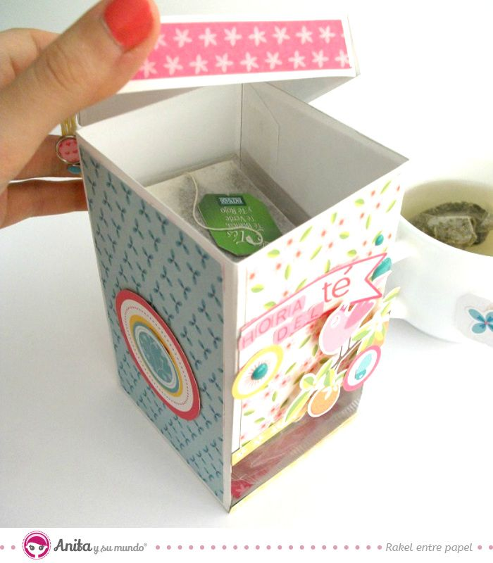 Manualidades con papel: cómo hacer una cajita dispensadora de infusiones con…
