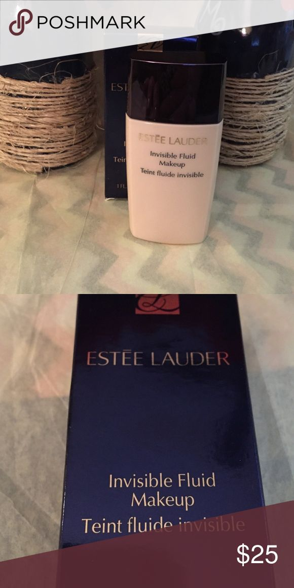 Estée Lauder Invisible Fluid Make up 3WN1 Invisible Fluid Make Up 1 fl oz. in shade 3WN1. New! Estee Lauder Makeup Face Primer