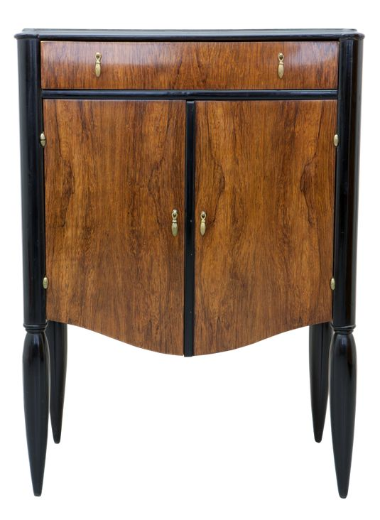 Little cabinet made by suë et mare france palisander veneered with black · art deco