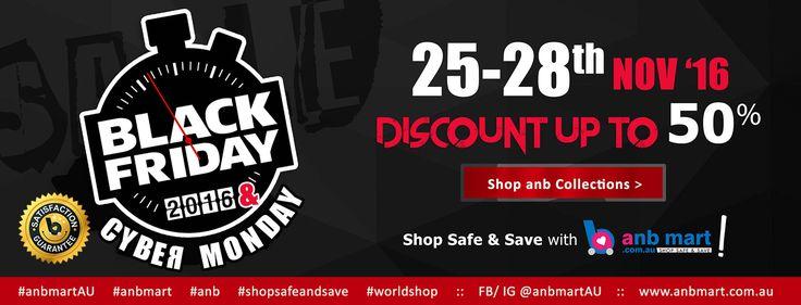 Black Friday & Cyber Monday sale at www.anbmart.com.au