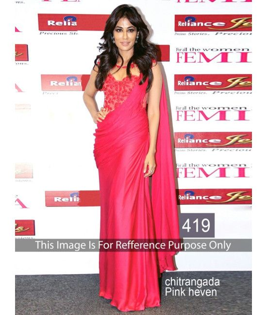 Bollywood Designer New Arrival Pink Saree Chitrangada