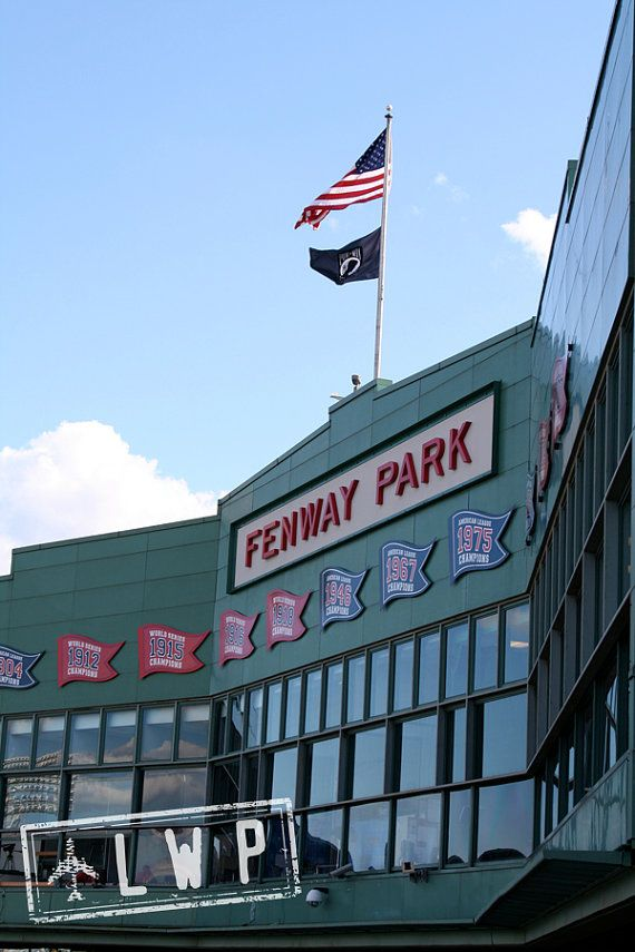 Fenway Park Marquee, Boston Red Sox, Urban Landscape 8x12 Fine Art Home Decor Photograph on Etsy, $37.00