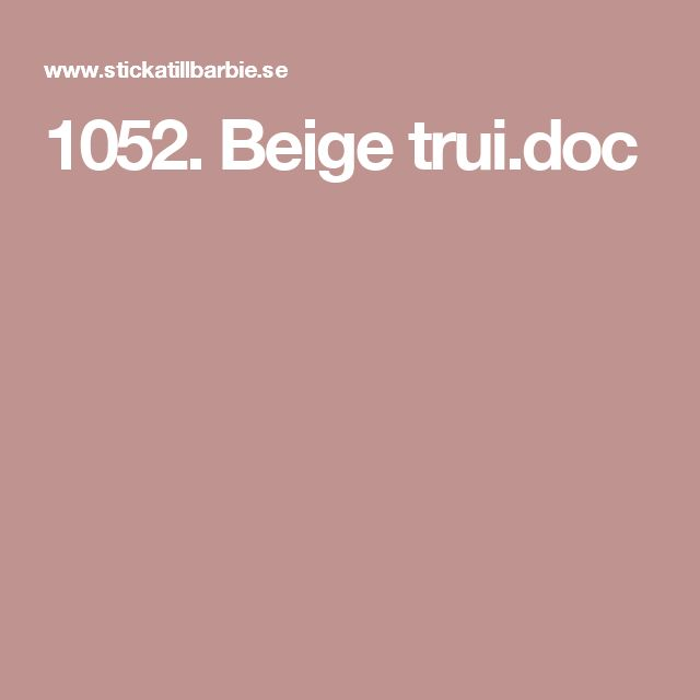 1052. Beige trui.doc