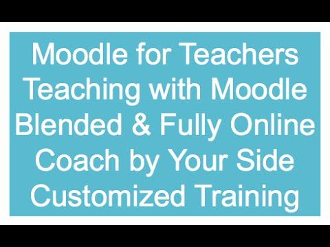Teacher Manual for Moodle