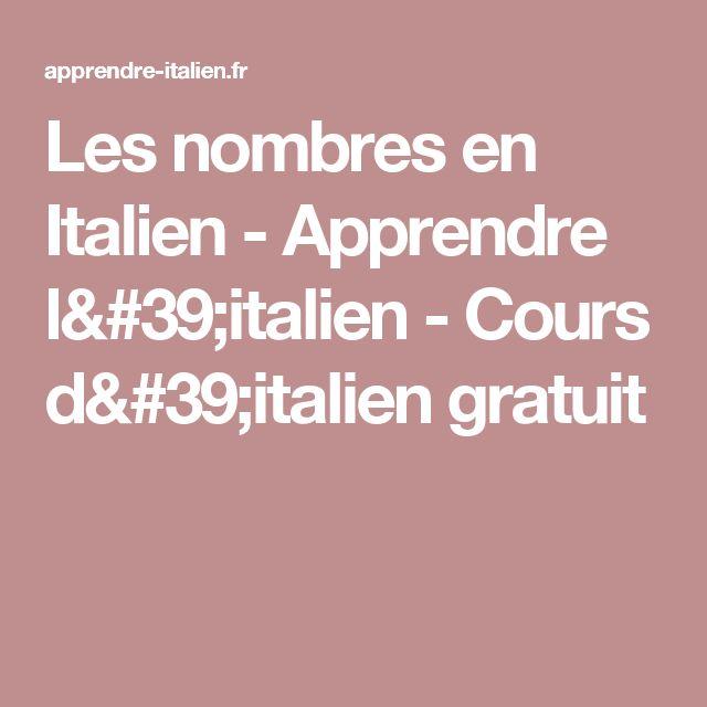 Les nombres en Italien - Apprendre l'italien - Cours d'italien gratuit