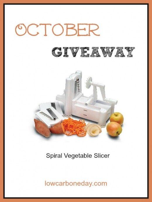 October Giveaway: Spiral Vegetable Slicer #lowcarb #paleo #grainfree