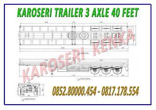 INFO HARGA >> PEMBUATAN TRAILER FLAT DECK 20 FEET - 2 AXEL >> KAROSERI KENKA