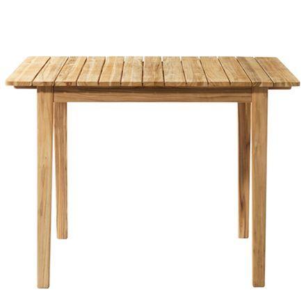 Spisebord C201a – 2-4 personer – Natur teak Sammen havemøbler i ...