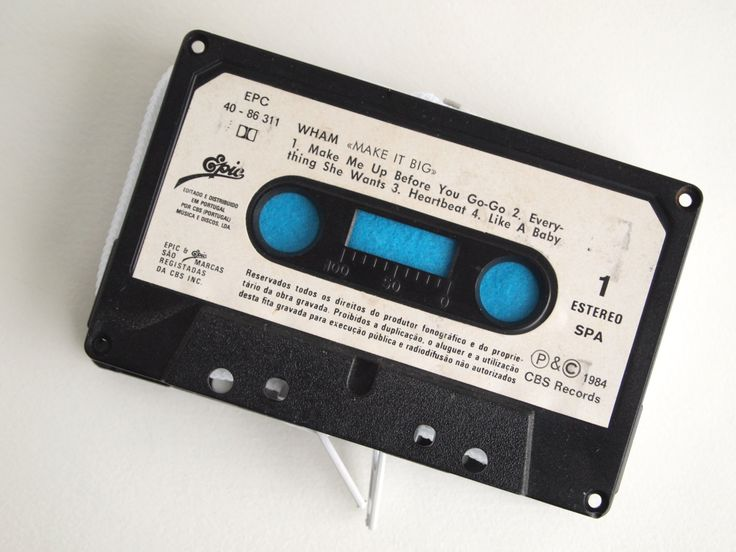 Zippered Cassette Tape Wallet - Wham / Make It Big by thepickpocketstore on Etsy
