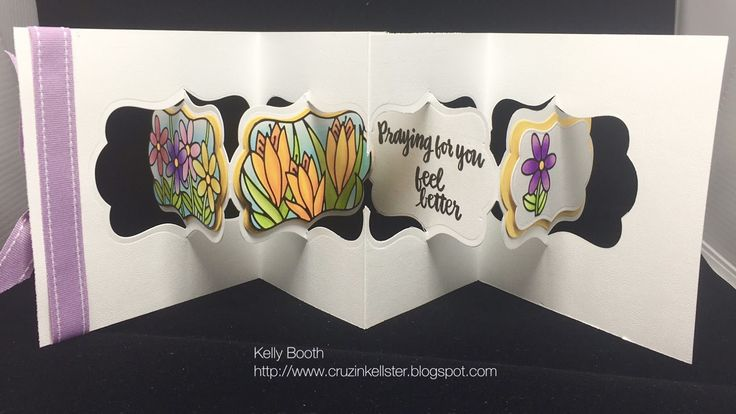 Kelly Booth using the Pop it Ups Katie Label Pivot Card by Karen Burniston for Elizabeth Craft Designs.