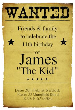 Western Birthday Party - Free Printable Birthday Invitation Template | Greetings Island