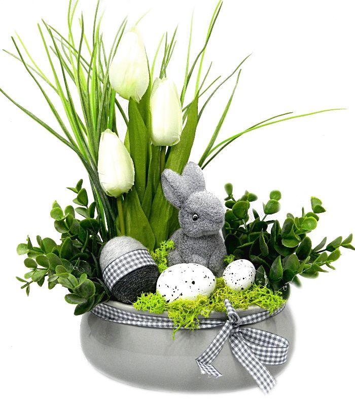 Wielkanocny Elegancki Stroik Wielkanoc 14 7165525040 Oficjalne Archiwum Allegro Spring Easter Decor Easter Arrangement Easter Bunny Crafts