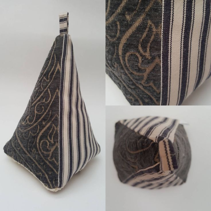 Excited to share the latest addition to my #etsy shop: Fabric Doorstop, Pyramid Shaped, Navy Striped Grey Damask, Fabric Door Stop 135 http://etsy.me/2mXxalj #housewares #homedecor #gray #blue #entryway #fabricdoorstop #fabricdoorstopper #doorstoppers #heavydoorstopper