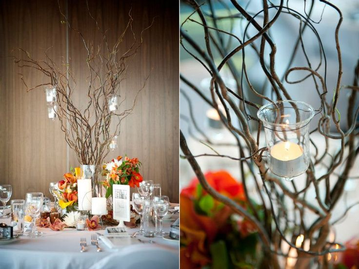Beautiful centre pieces from Queenstown Wedding Hire