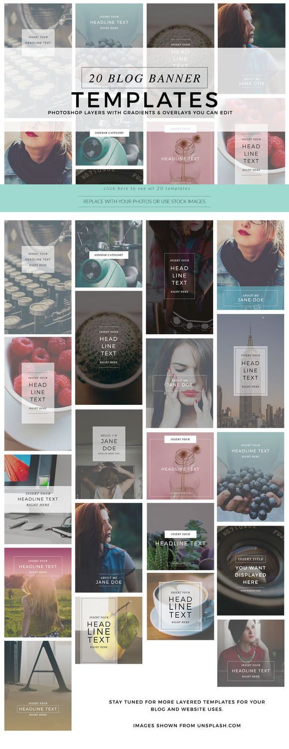 Blog Banner Graphics by Holly McCaig Creative on Creative Market