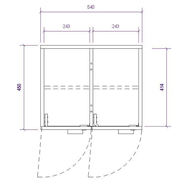 Producto: Casillero 4 puertas 165x54x45 - Mobiliario