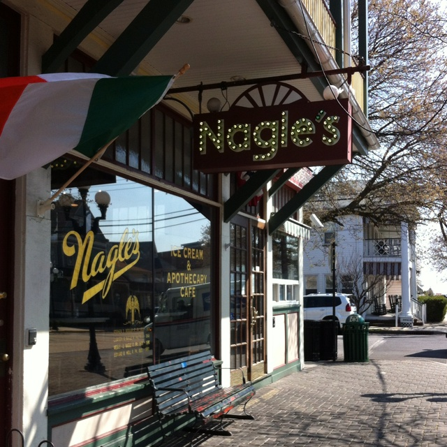 Nagels apothecary  in ocean grove is a great spot for ice cream, breakfast and lunch.