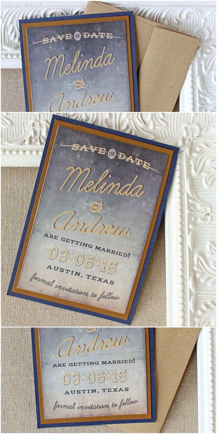 Starry Night Wedding Save the Date | Sunshine and Ravioli
