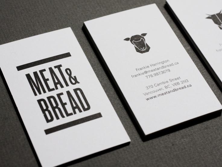 Meat & Bread / Glasfurd & Walker: Design Inspiration, Branding Design, Business Cards, Animal Icons, Graphics Design, Explanatori Business, Identity Create, Meat Breads 02 Jpg 700 525, Inspiringbrand Meat Breads