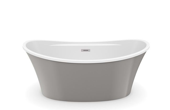 Freestanding tub in master